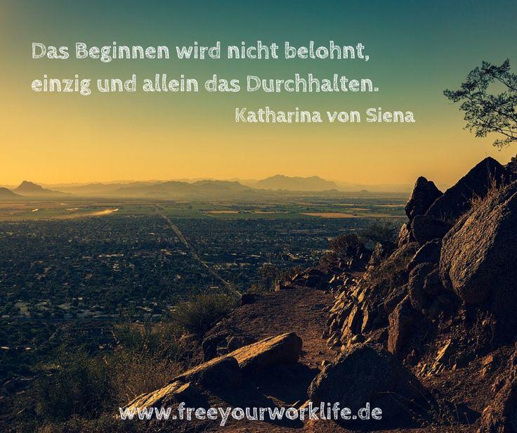 Bist Du auf der Suche nach einem erfüllten Arbeitsleben? Oder verfolgst Du gerade ein anderes wichtiges Ziel in Deinem Leben?  Bleib dran und arbeite für Dein Ziel. Lass Dich nicht vorschnell abbringen...Volle Kraft voraus :)  #Zitate #Sprüche #deutsch #Veränderung #Durchhalten