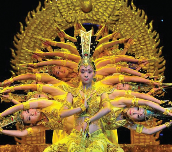 Dancers from the China Disabled People's Performing Art Troupe perform in Beijing.