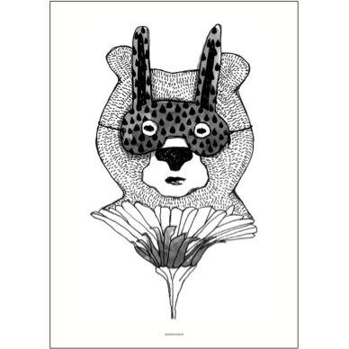 Pax and Hart Hartley Bear Poster