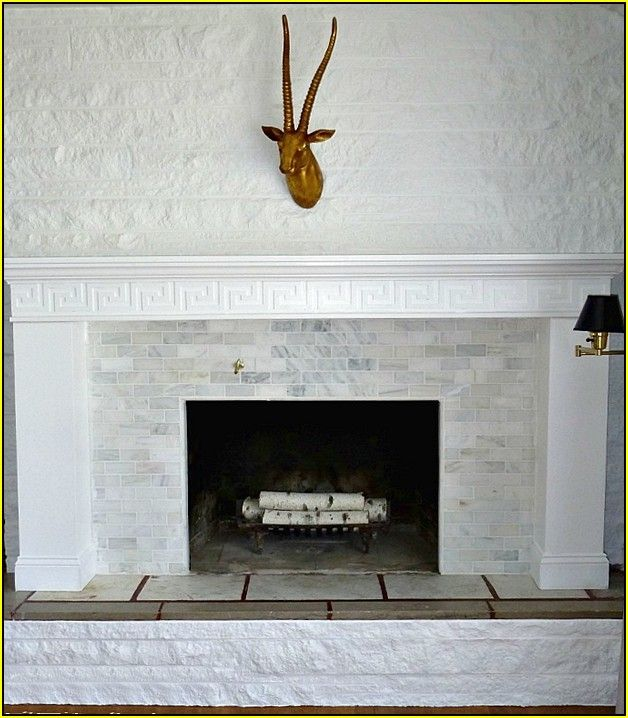 Tumbled Travertine Tile Fireplace Best Home Design Ideas