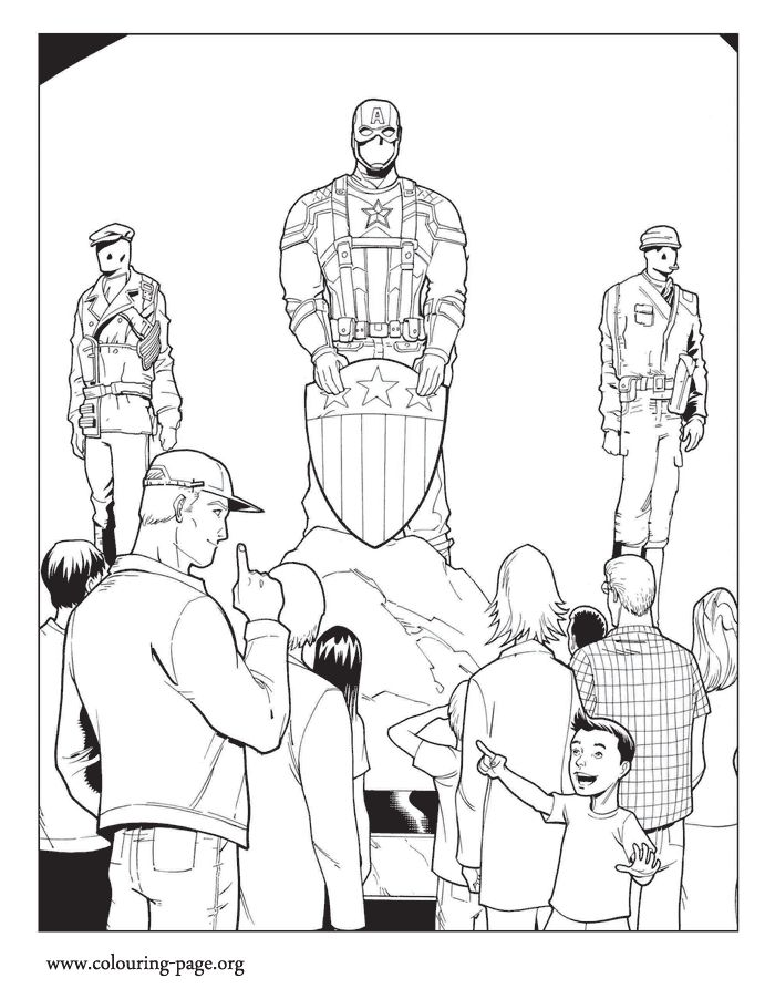 In This Amazing Picture Steve Visits The Captain America Museum Enjoy Free Printable