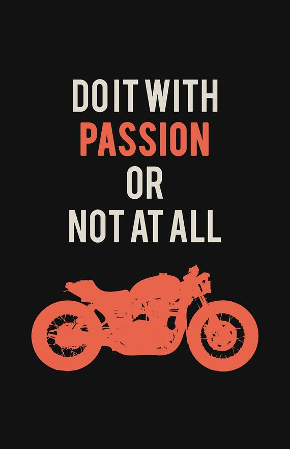 Triumph Bonneville Poster - Do it With Passion #1 (11x17 in)