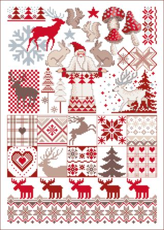 Lindner's kreuzstiche - Santa Claus