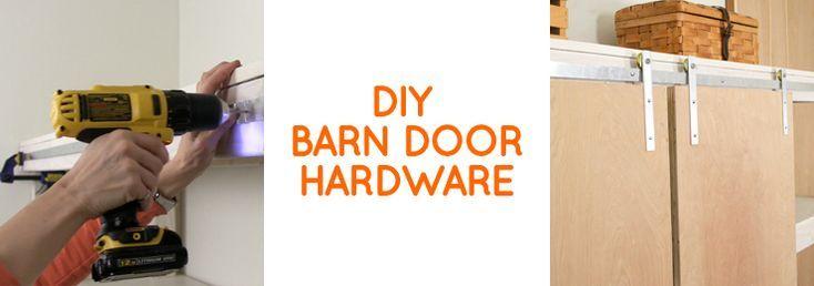 How to make DIY barn door hardware