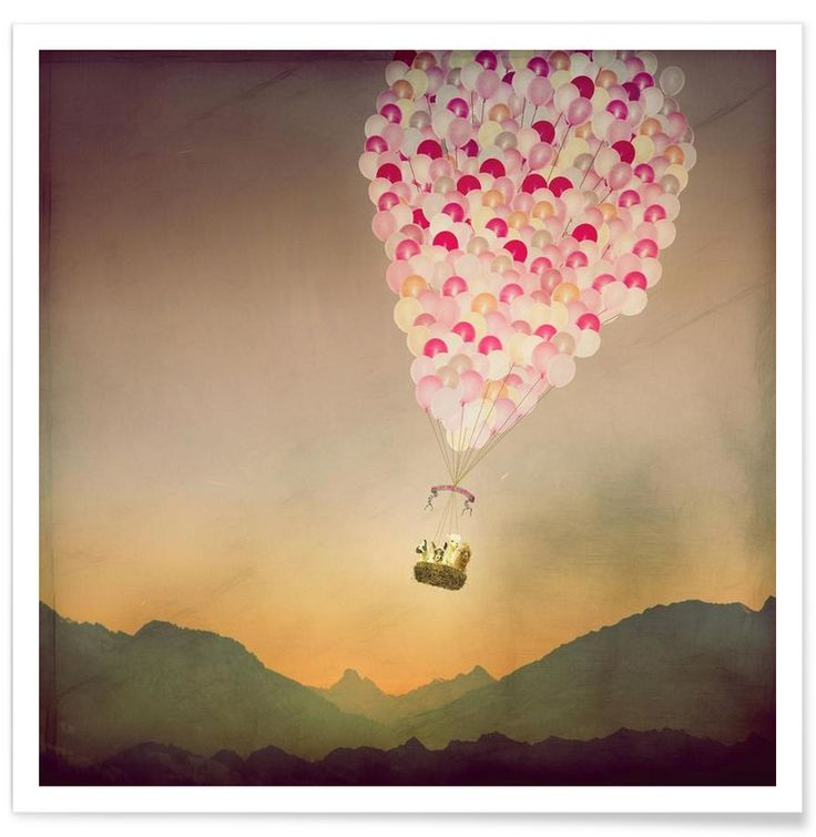 Never Stop Exploring the Sky als Premium Poster von Monika Strigel | JUNIQE