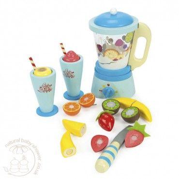 Le Toy Van - Honeybake Blender Set 'Fruit and Smooth'  www.naturalbabyshower.co.uk/le-toy-van-honeybake-blender-set-fruit-and-smooth.html