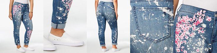 Melissa McCarthy Seven7 Trendy Plus Size Paint-Splatter Jeans