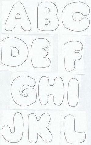 !!!!♥ Feltro-Aholic ♥ Moldes e pap em feltro e feltro estampado!: Riscos de letras do ABC