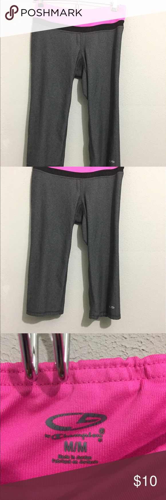 Pink and gray Athletic capris pants Great condition only worn once, selling because too large on me (I'm an XS). These fit true to size M or S Pants Track Pants & Joggers