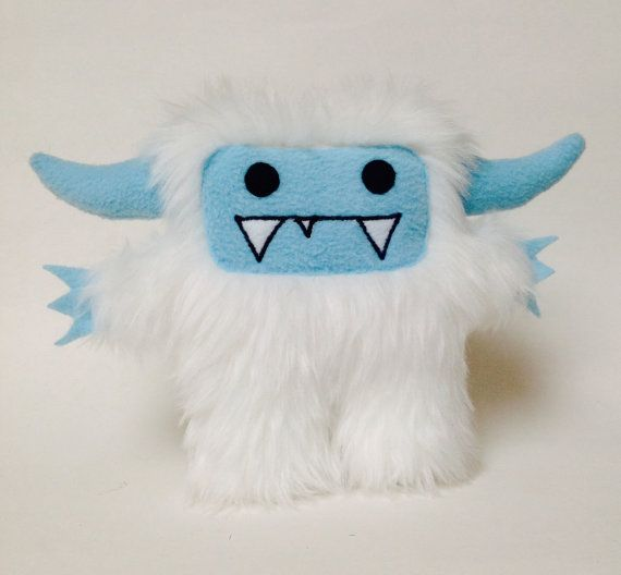 Jack the abominable snowman yeti plush monster by DoodleDollies, $42.00