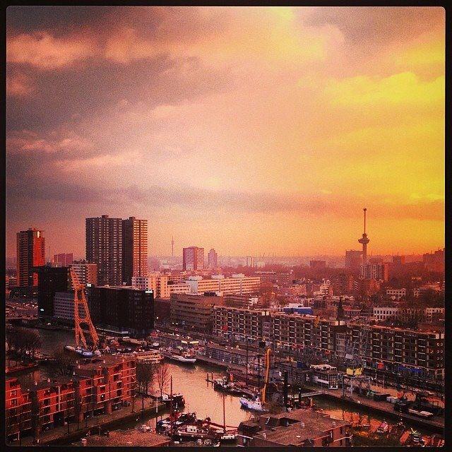 Rotterdam on fire...
