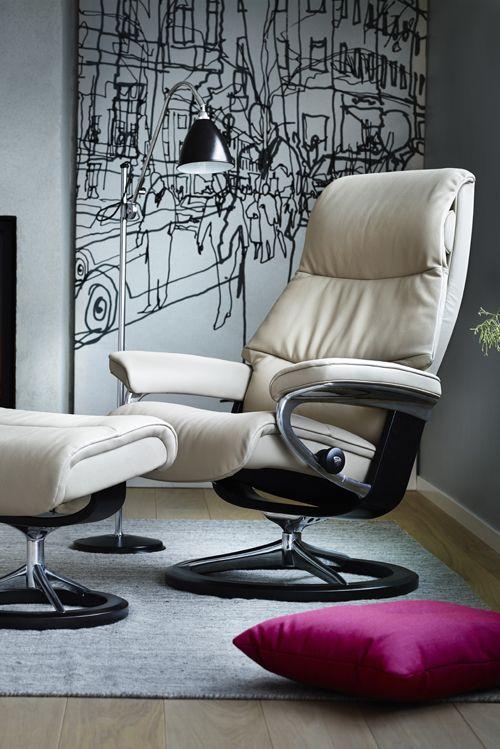 Stressless Sessel View: modernes Design und unendlicher Komfort. #sessel #stressless #ekornes #möbel #wohnen #einrichtung
