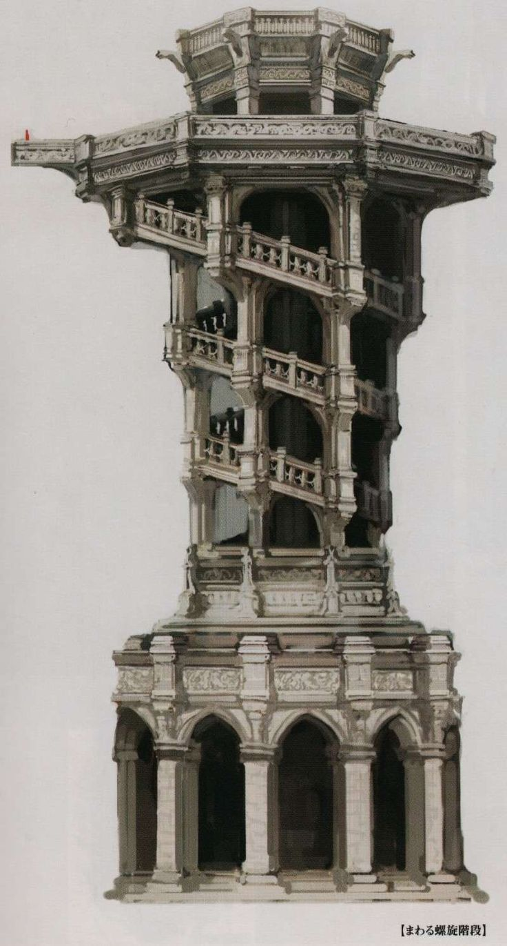 Dark Souls Concept Art - Anor Londo Staircase Concept Art