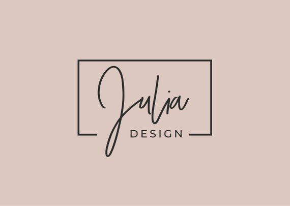 Premade Logo Design, Modern Logo, Logo for Bloggers, Creative Logo, Vector Logo Format, Black and Wh