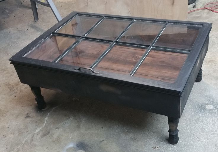 Gorgeous distressed aged window table. Our handcrafted window table is made with a reclaimed 6 pane window panes and transforms what would be an ordinary coffee table into an extraordinary conversatio