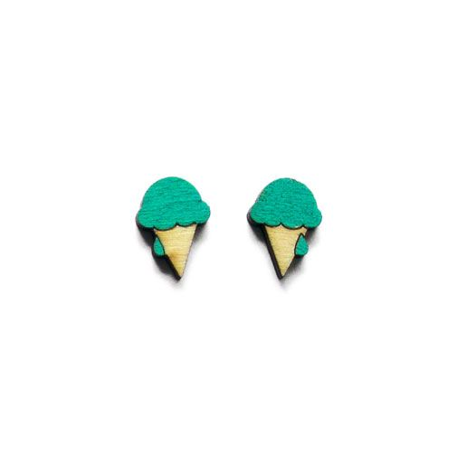 Ice cream earrings by ALZBETA DESIGN Earrings are made of 2mm plywood.