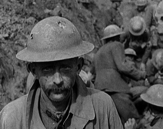Haggard Tommy on the Somme