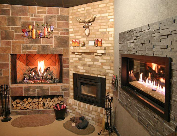 Electric Fireplace Stone Surround   Fireplace   Pinterest ...