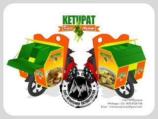 Desain Logo | Logo Kuliner |  Desain Gerobak | Jasa Desain dan Produksi Gerobak | Branding: Desain Gerobak Motor Ketupat Kari Ayam