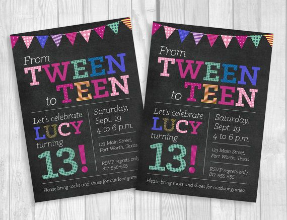 13th birthday ideas Custom Printable 5x7 Tween To Teen Girl's 13th Thirteen Birthday  13th birthday ideas