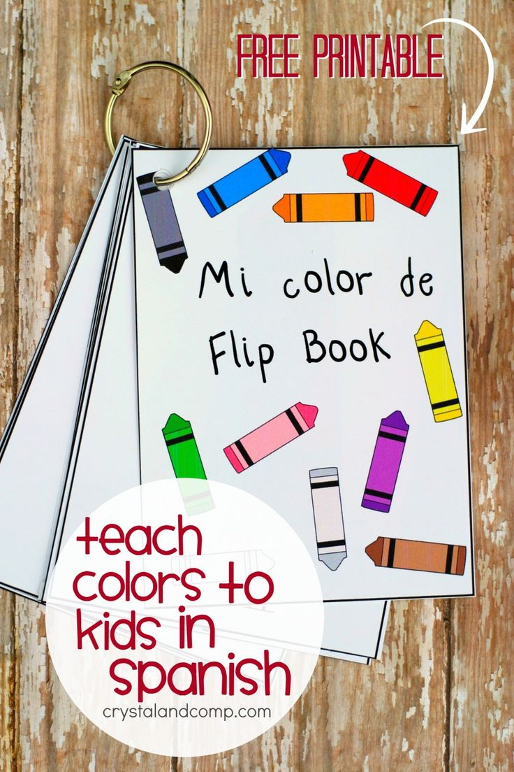 Spanish colors for preschool - Teach Colors To Kids In Spanish Flip Book Preschool