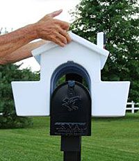 Mailbox Planter, I really want this. Fits over your mailbox. Way over-priced though. :o/