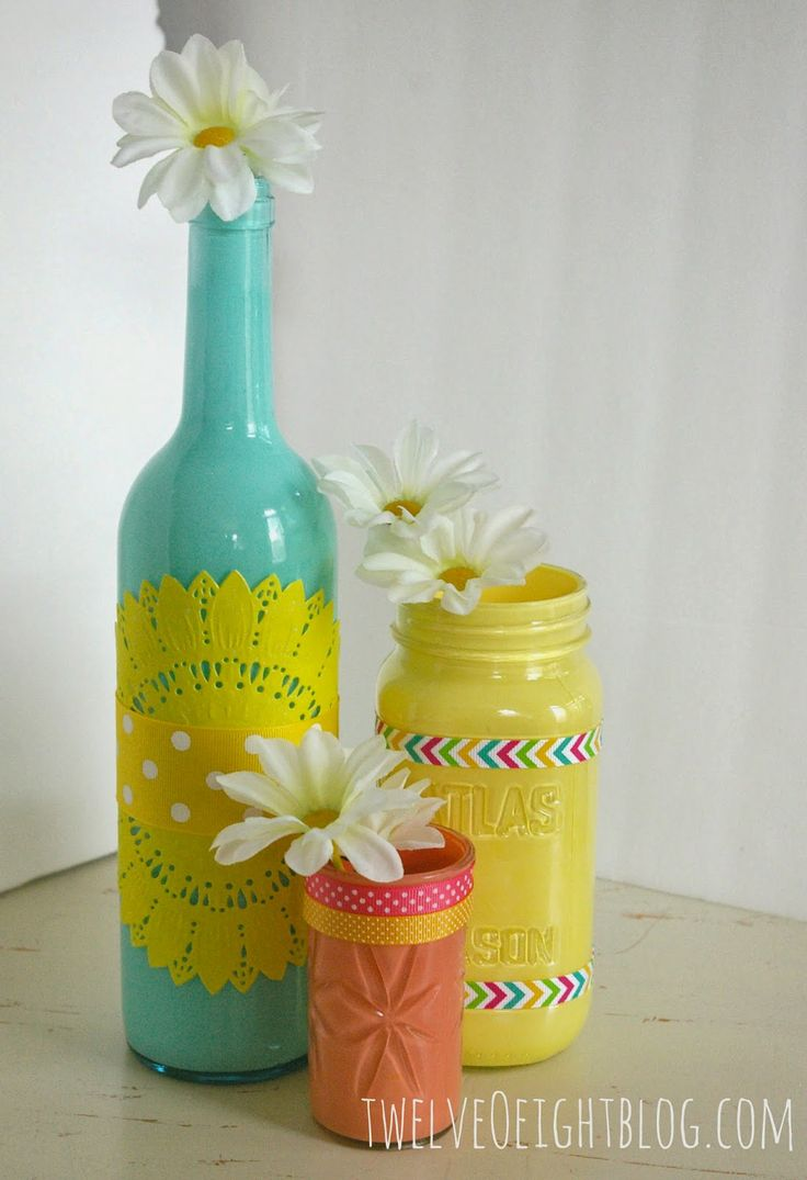 17 best ideas about painted glass bottles on pinterest