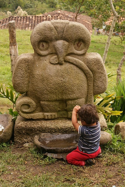 Aguila Serpiente y Niño, San Agustin, Colombia  | UNESCO World Heritage | paulhs on flickr
