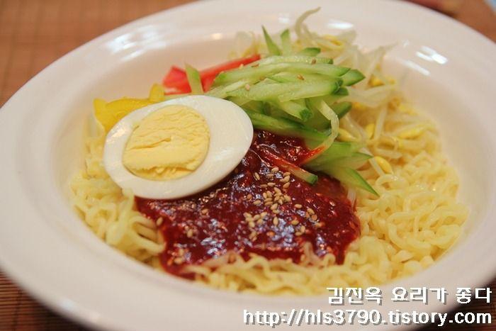 김진옥 요리가 좋다 :: 입맛없을때 상큼하게 별미요리~ 매콤새콤 비빔라면 *^^*