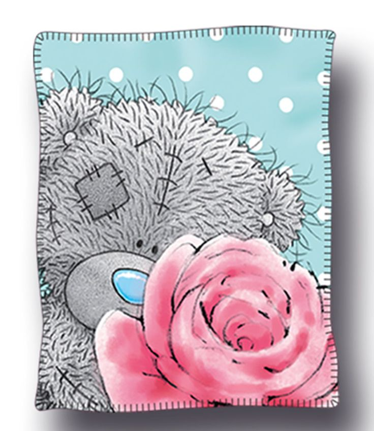 Tatty Teddy 'Pearl' - Polar Fleece Throw