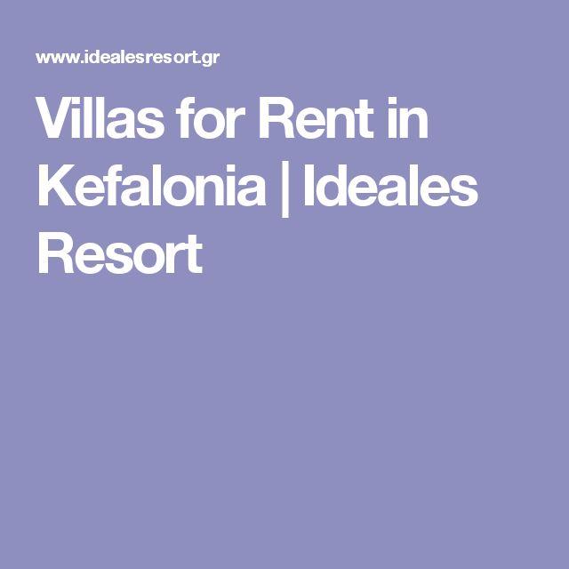 Villas for Rent in Kefalonia | Ideales Resort