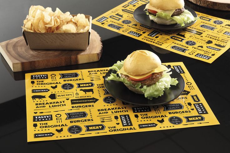 Copa&Cia - Linha Gourmet Burger: Jogo americano de papel que ajudarão a otimizar o tempo e facilitar a rotina.