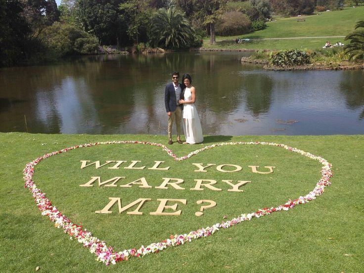 Nikita + Nakul: An Elaborate Lakeside Proposal in Melbourne - real engagements - real weddings - Indian wedding proposal - proposal ideas - DIY proposal ideas #thecrimsonbride
