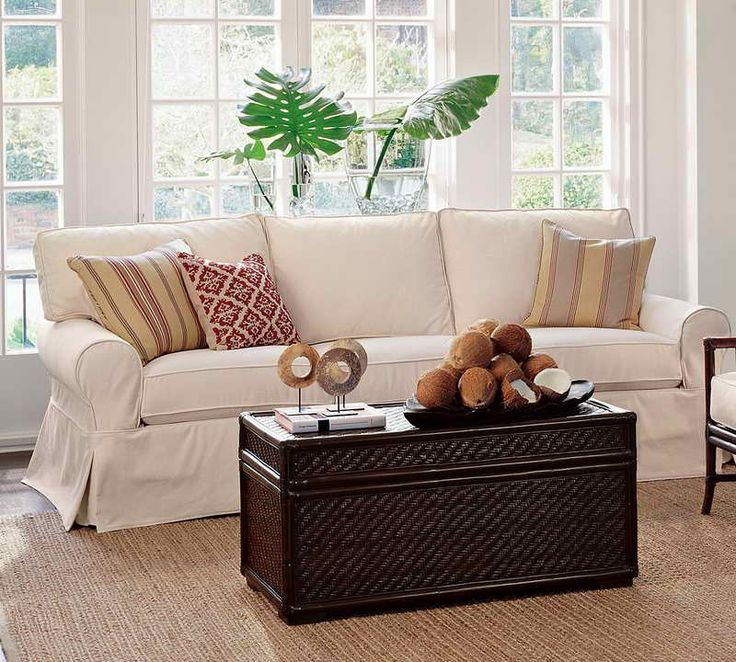 Sofas For Sale White Twill Slipcover Made for Pottery Barn PB Basic Sofa Brand New