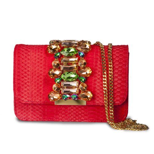 Handbag shoulder bag SAINT-BARTH suede blue rhinestone embellishment Emanuela Caruso Capri Ebx22jL