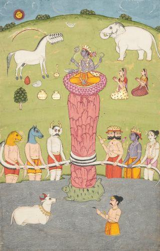 an illustration to the bhagava ||| miniature ||| sotheby's n08976lot6sdkfen