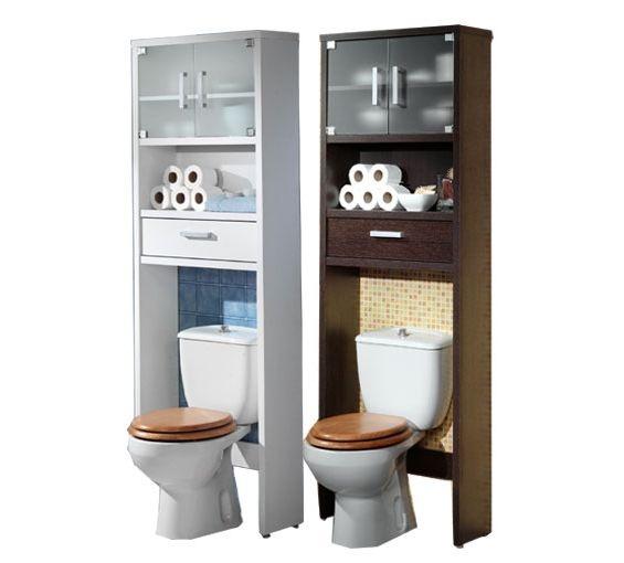 Armario de baño sobre inodoro medidas 66cm X 194cm disponible en color blanco o wengué