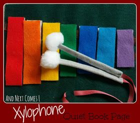 And Next Comes L: Xylophone Quiet Book Page