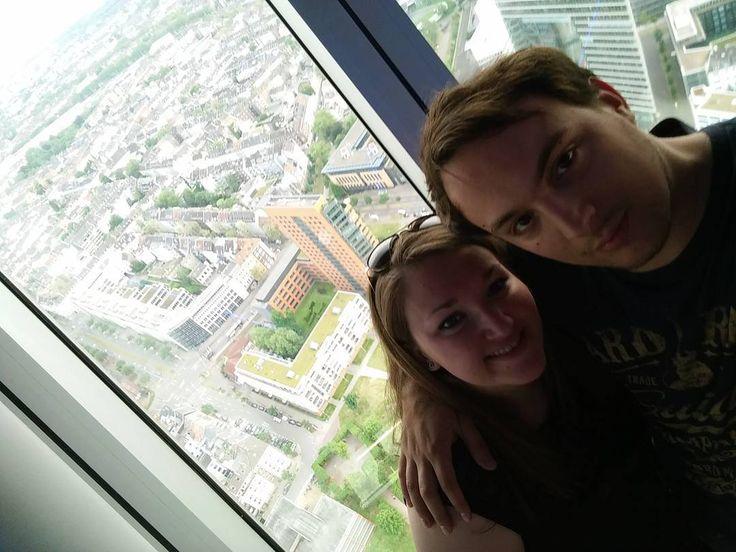 Breathtaking views from the Rheinturm Tower  #2europeans #germany #düsseldorf #europe #rheinturm #skyline #bluesky #couple #roadtrip #beautiful #landscape #views #walk #hashtag #goals #instagram #picture #enjoy #moments #lifestyle #travelphotography #happy #fun #travel #travelgram #travelling #trip #travel #traveltheworld #nofilter