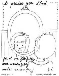 Psalm 139 Coloring Page - I praise you for I am fearfully ...