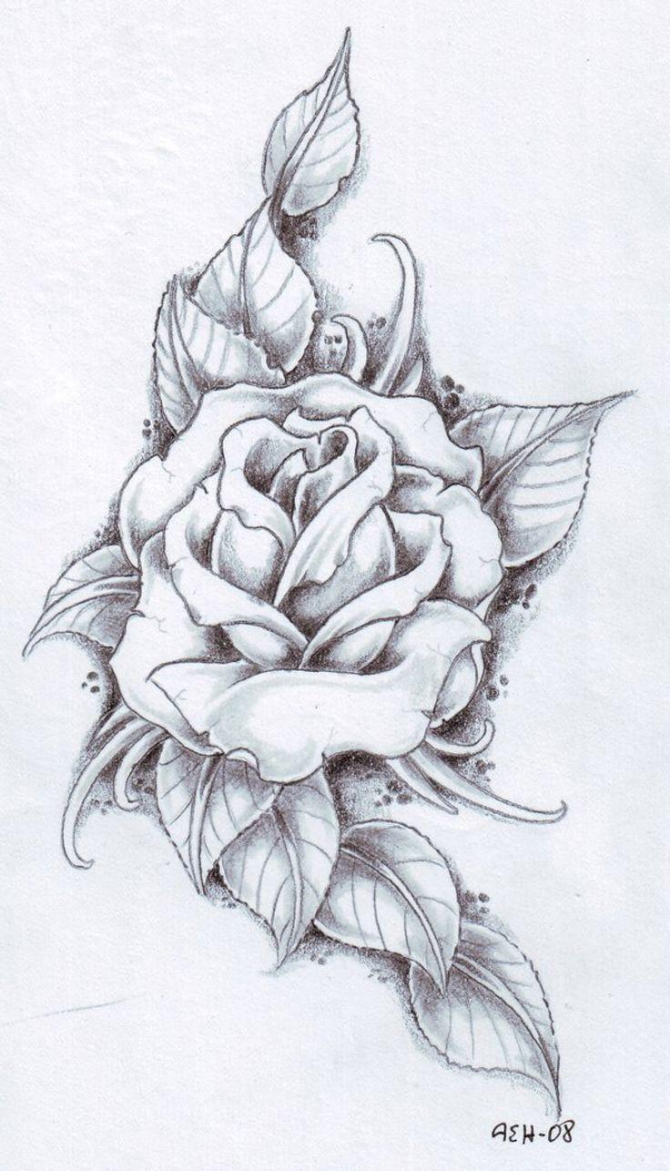 Black and gray Rose by vikingtattoo on @DeviantArt