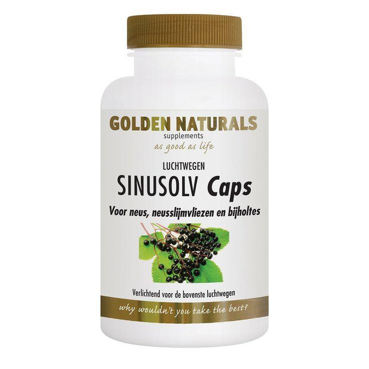 Golden Naturals Sinusolv caps werk verlichtend voor de bovenste luchtwegen.
