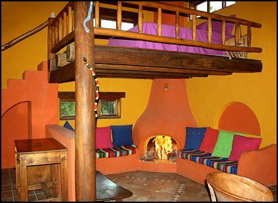 Colors of Mexico in vibrant style. I like this cool loft bed.