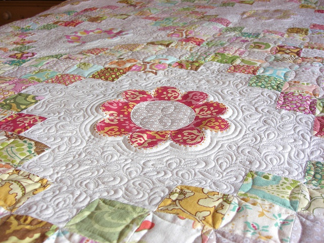 beautiful quilt: Quilts Inspiration, Beautiful Quilts, Sewing Projects, Irish Chains Quilts Ideas, Photo Shared, My Birthday, Weights Loss, Flower, Triple Irish