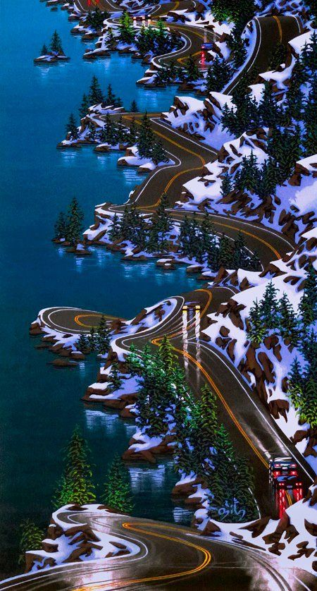 Sea to Sky highway from Vancouver to Whistler, BC, Canada - the most amazing highway