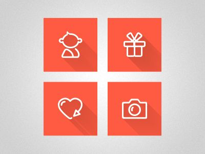 icons 50 Inspirational Flat Icon Examples