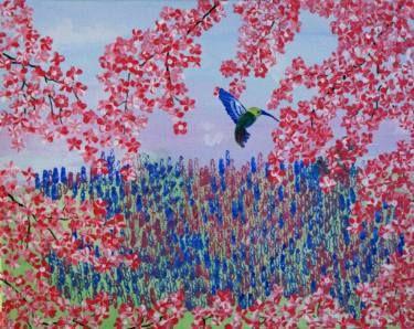 "Saatchi Art Artist Sherry Reid; Painting, ""The Hummingbird"" #art"