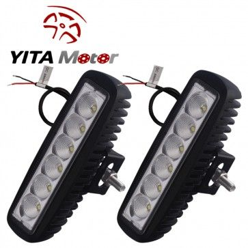 #Yitamotor #Work #Light --- 2 x 18W Flood LED Work Light Bar Lamp Driving Fog Offroad SUV 4WD Car Truck --- http://www.yitamotor.com/off-road-led-bar.html