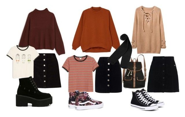"""Skirt styles"" by eline-storli on Polyvore featuring Miss Selfridge, Superdry, Monki, Converse and Vans"