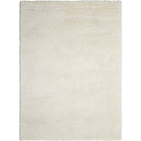 """Kathy Ireland Yummy YUM01 White Shag Area Rug - Style # 13F15  5'3"""" X 7'3"""" $349.00  7'10"""" X 9'10"""" $699.00"""